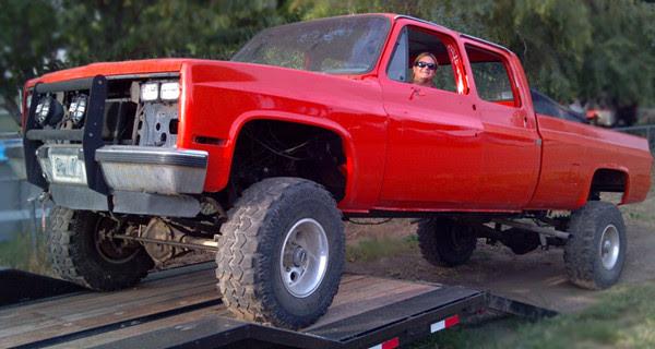 Chevy Crew Cab Dana 60 lifted