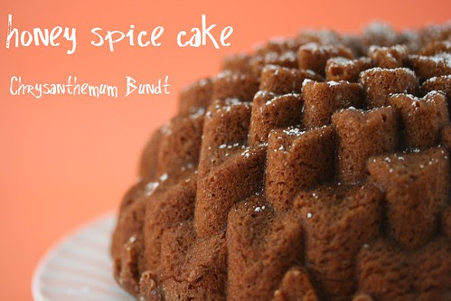 Honey Spice Cake in Chrysanthemum Bundt