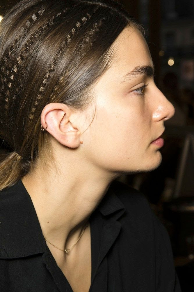 Le Fashion Blog - Hair Inspiration: Crimped Ponytails at Stella McCartney S/S 2015 -- Andreea Diaconu Piercing Via Vogue UK photo 2-Le-Fashion-Blog-Hair-Inspiration-Crimped-Ponytails-Stella-McCartney-SS-2015-Andreea-Diaconu-Piercing-Via-Vogue-UK.jpg