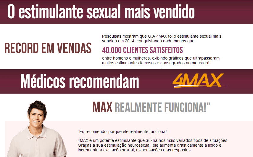 GA FOURMAX ESTIMULANTE SEXUAL UNISEX - 120 DRAGS