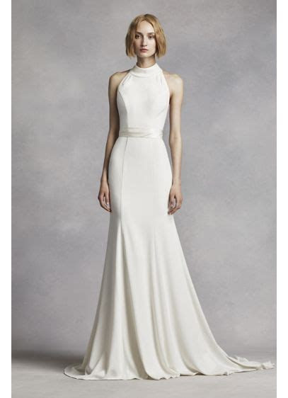 White by Vera Wang High Neck Halter Wedding Dress   David