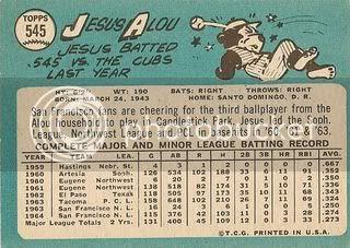 #545 Jesus Alou (back)