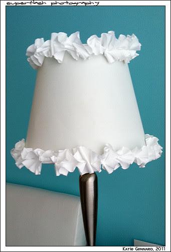 ruffle lamp