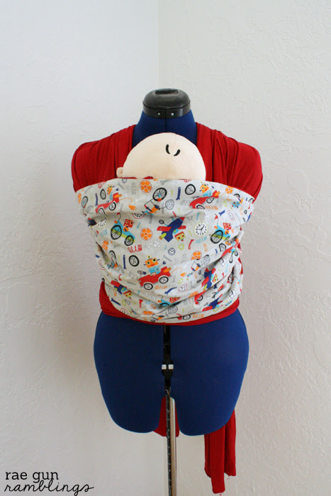 Moby baby carrier with decorative fabric accent tutorial - Rae Gun Ramblings