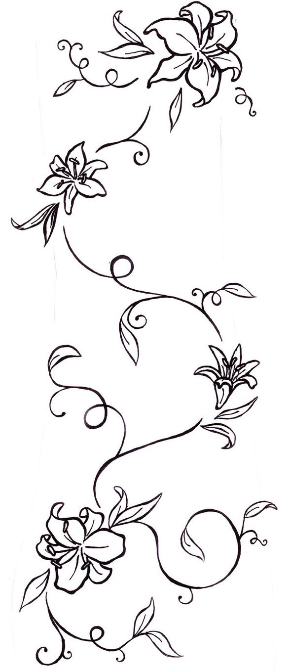 Flower Tattoos Lily And Vine Tatt Tattoo Tattoomagz