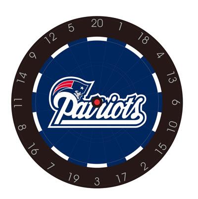 NFL Dartboard with Six Darts