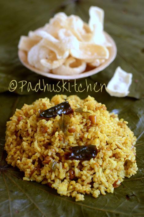 Puliyodharai (Tamil style)