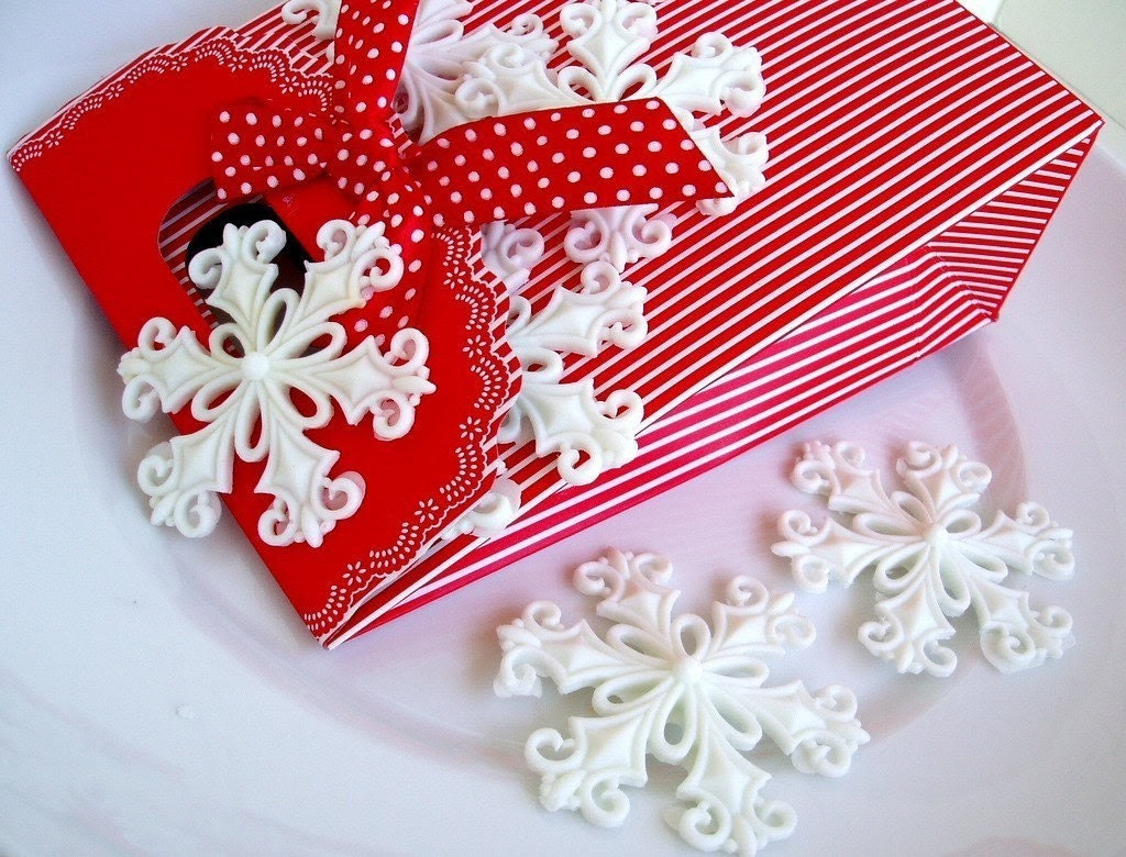 Peppermint Snow Flakes Guest Soap