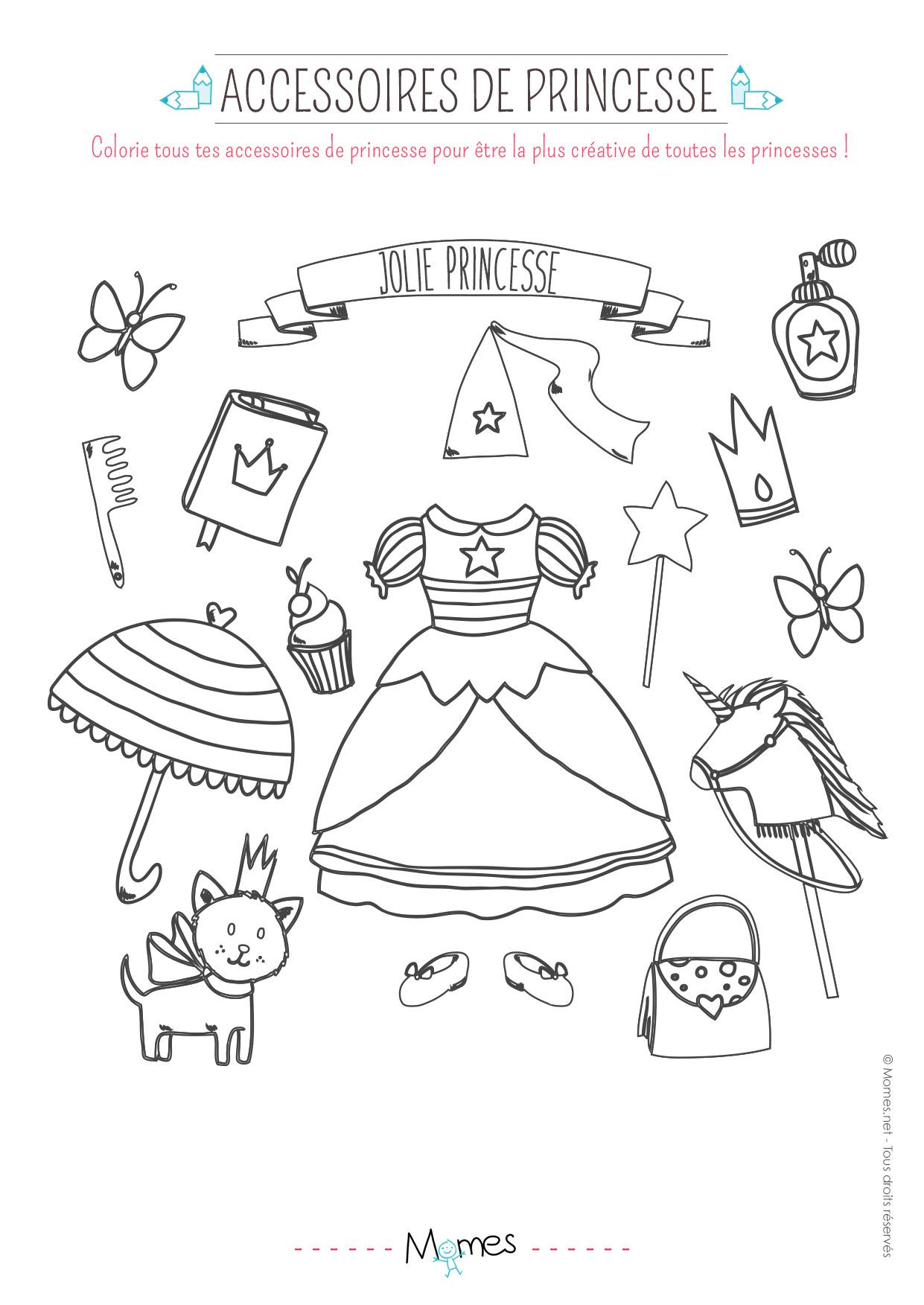 【Dernier】 Coloriage Toutes Les Princesses