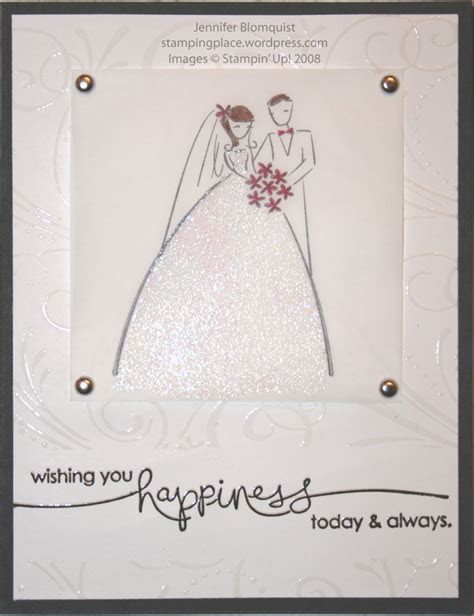 My elegant embossed wedding card   Northwest Stamper