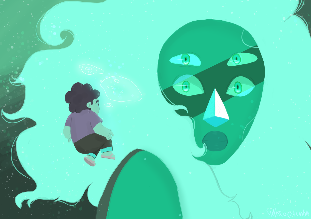Did a scene redraw from Steven Universe, I'm so in love with Malachite