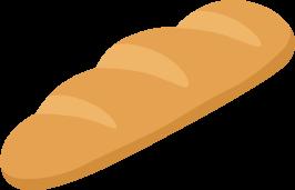 短いフランスパンの無料ベクターイラスト素材 Picaboo ピカブー