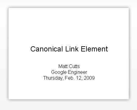Canonical Link Slideshow