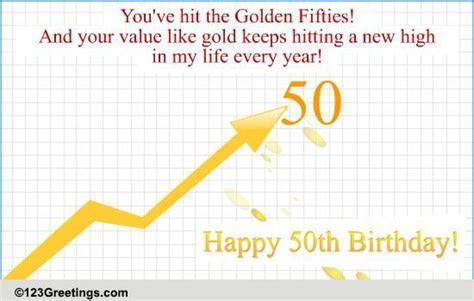50th Birthday! Free Milestones eCards, Greeting Cards