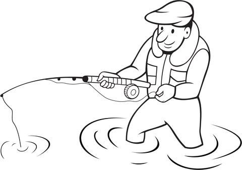 Ausmalbild Angler Ausmalbilder Kostenlos Zum Ausdrucken