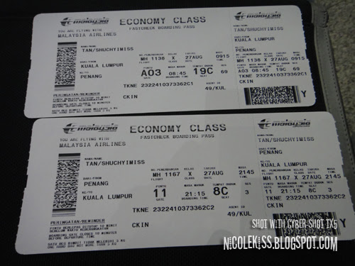 return tickets to penang