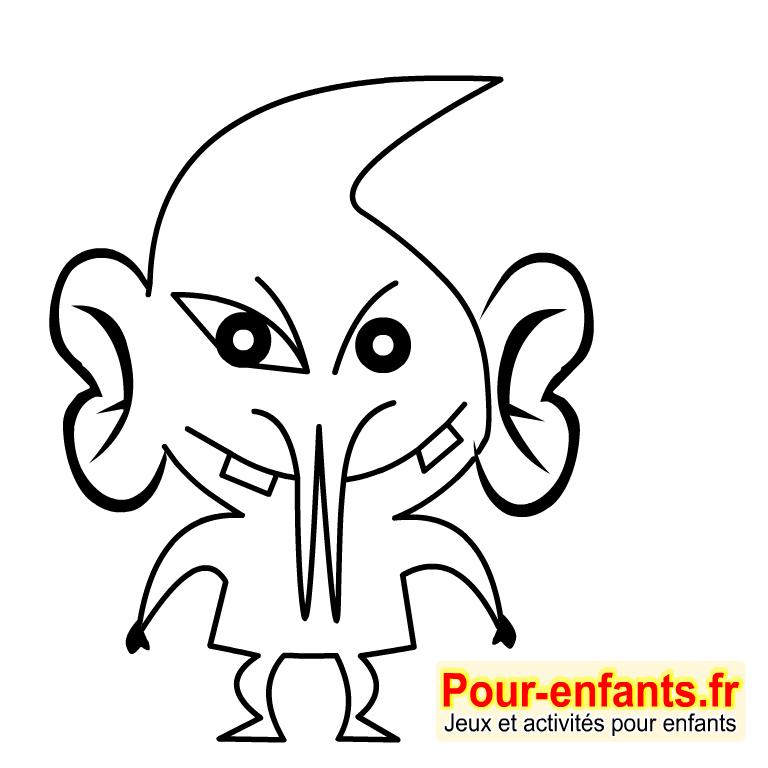 Dessin De Monstre Marin Colorier Les Enfants Marnfozinecom