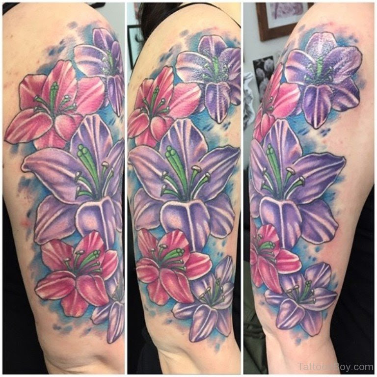Lily Flower Tattoo On Half Sleeve Tattoo Designs Tattoo Pictures