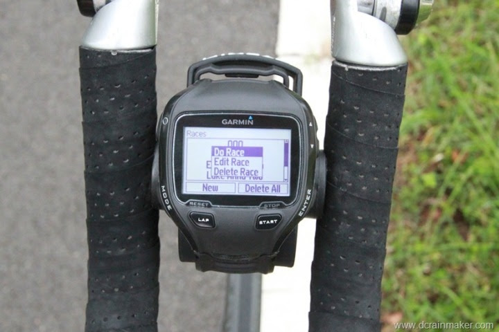 Garmin FR910XT Virtual Racer