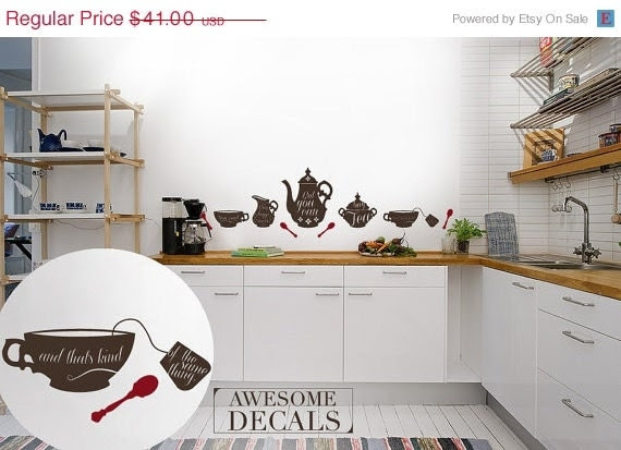 10 DISCOUNT ON Kitchen Quote Wall Decal Quote by awesomeDecals