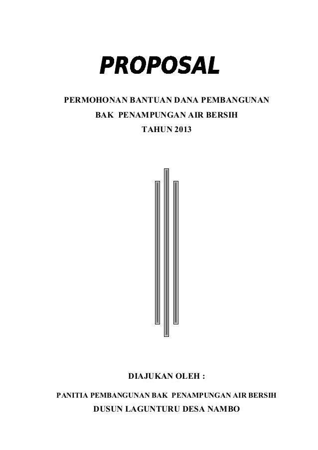 146841032 proposal-bak-air-bersih