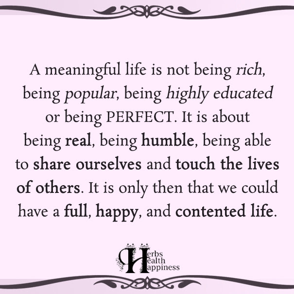 A Meaningful Life Is Not Being Rich ø Eminently Quotable Quotes