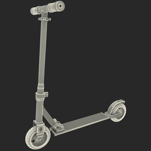 3d model micro scooter skateboard skate board