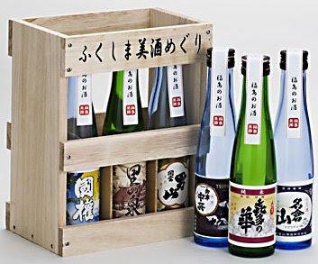ふくしま美酒めぐり 桐箱6本入飲み比べセット 180ml×6本