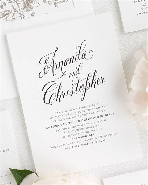rustic modern wedding invitations wedding invitations