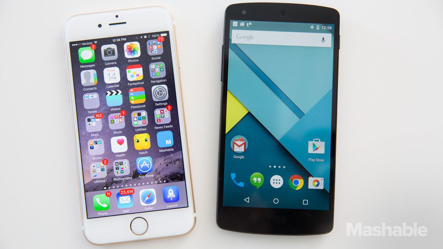 iOS 8 vs. Android Lollipop: Same features, yet more distinct than ever