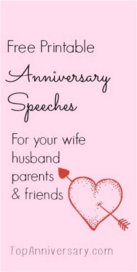 Free Anniversary Speeches For You To Print & Personalize