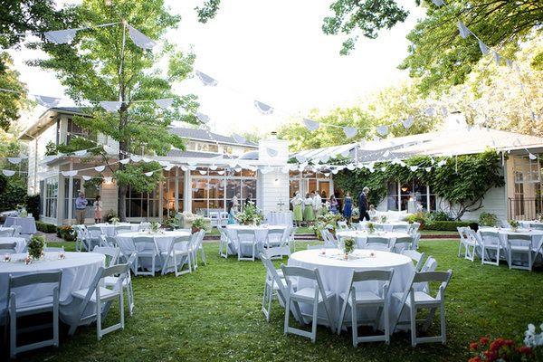 Backyard Garden Wedding Reception