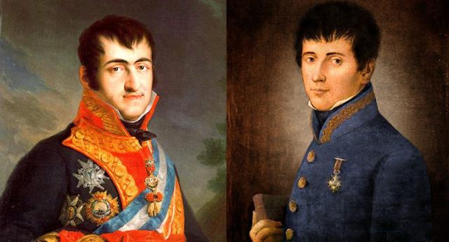 Fernando VII y Rafael Riego