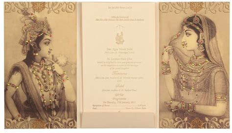 Traditional Radha Krishna wedding Cards   Designer Wedding