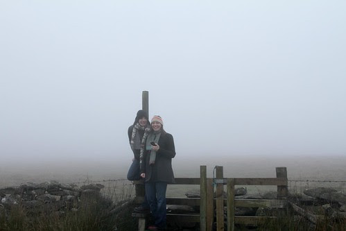 Erin and I in the mist