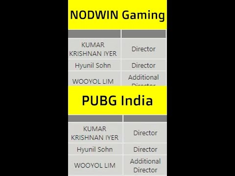 PUBG Mobile India Proof #2 - Relationship between PUBG India and NOWDWIN...