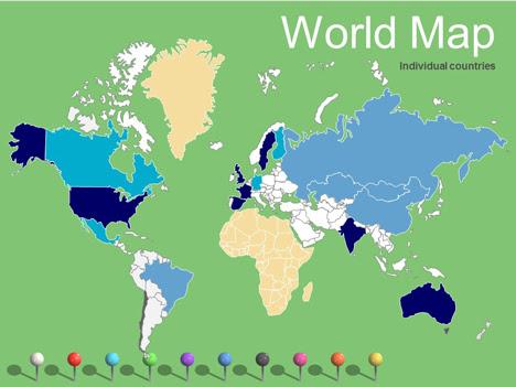 World Maps Vector Editable – Updated