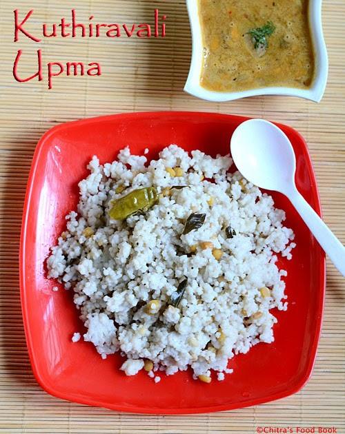 Kuthiraivali Upma Recipe/Barnyard Millet Upma-Millet