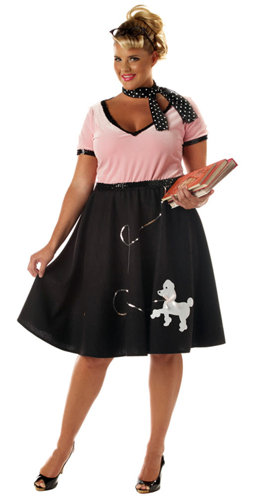 1950's pink ladies poodle skirt grease adult women's