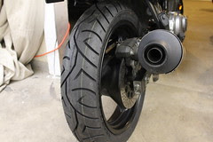 new rear tire installed
