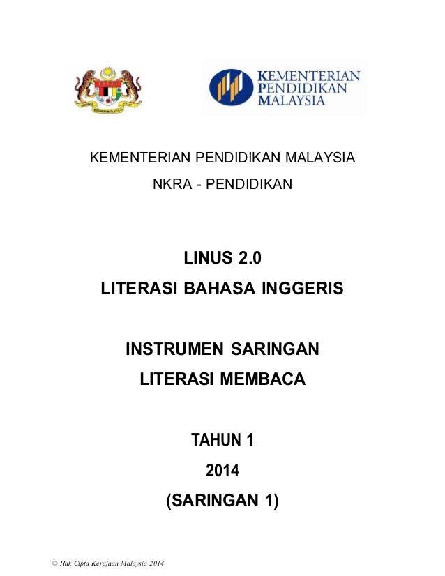 1. instrumen saringan 1 membaca tahun 1 2014