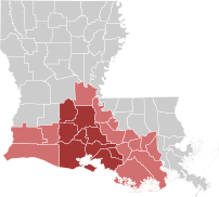 The 22 parishes of Acadiana. The Cajun heartla...