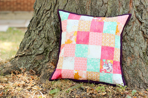 Summer Patchwork Pillow by jenib320