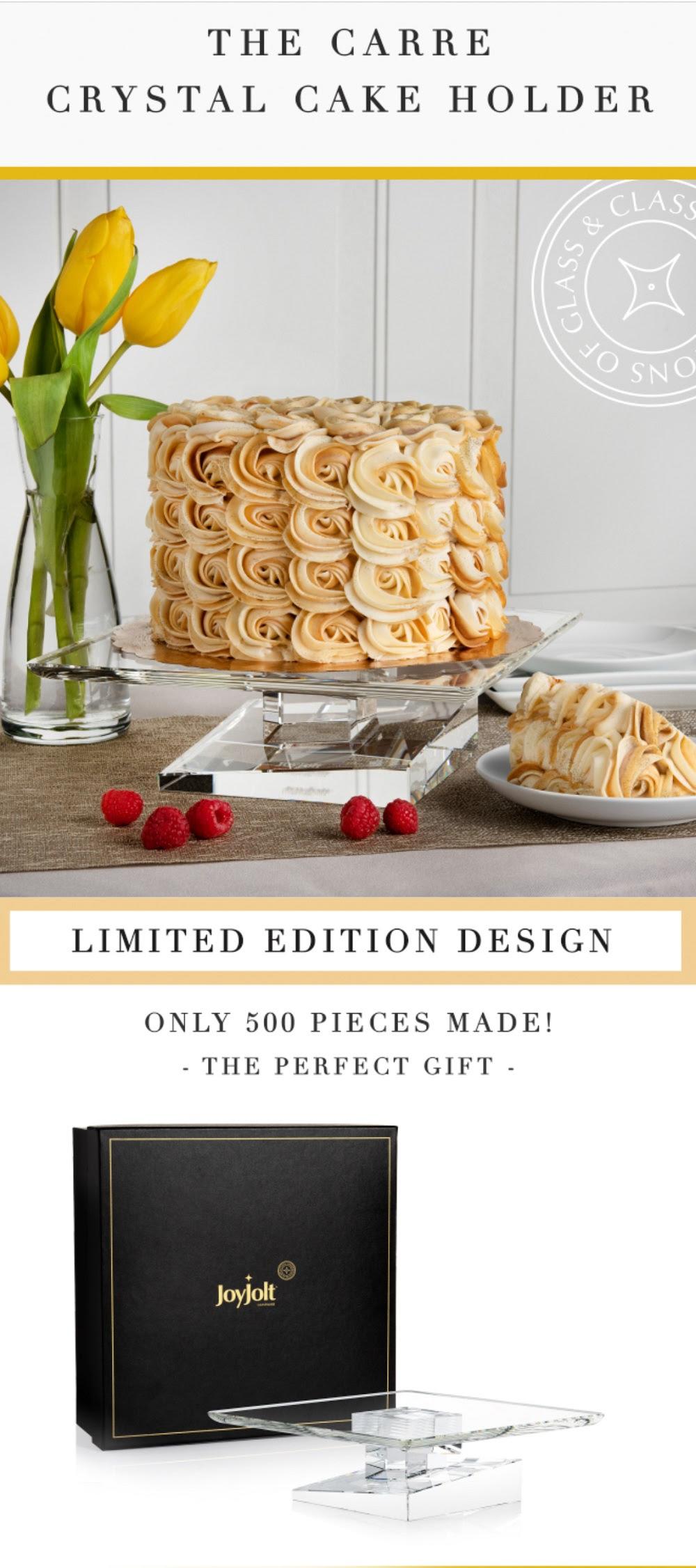 JoyJolt's Carre Crystal Glass Cake Holder 100% high qualitly crystal #LimitedEdition #JoyJolt #Cake