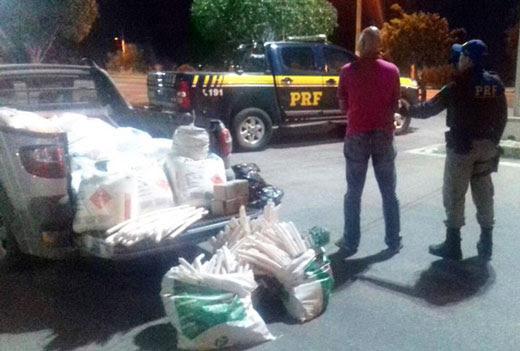 Carga de explosivos seria vendida para garimpeiros na região de Nordestina | Foto: Divulgação/ PRF