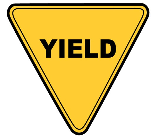 Blank Yellow Yield Sign - More information