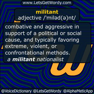 militant 01/09/2016 GFX Definition