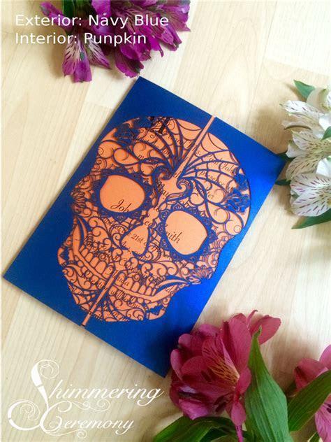 Day of the Dead Skull laser cut wedding invitation