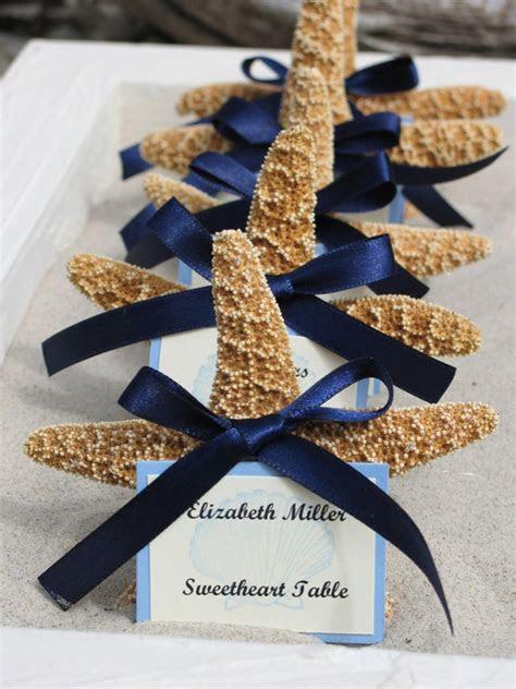 beach wedding decorations sugar starfish favors placecards