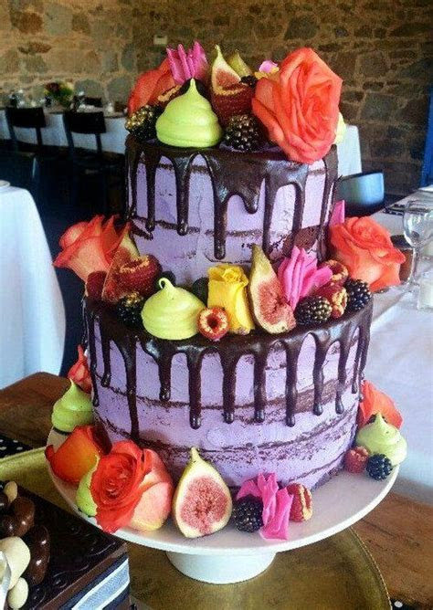 Color Drip Wedding Cakes   Arabia Weddings